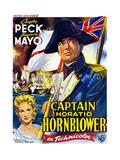 Captain Horatio Hornblower, from Left: Virginia Mayo, Gregory Peck, (Belgian Poster Art), 1951 Giclée-tryk
