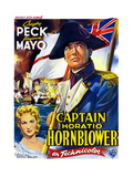 Captain Horatio Hornblower, from Left: Virginia Mayo, Gregory Peck, (Belgian Poster Art), 1951 Giclee Print
