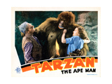 Tarzan the Ape Man, from Left: C. Aubrey Smith, Ray Corrigan, Maureen O'Sullivan, 1932 Giclee Print