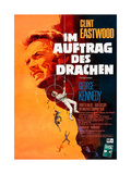 The Eiger Sanction, (AKA Im Auftrag Des Drachen), Clint Eastwood on German Poster Art, 1975 Giclee Print