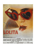 Lolita, Sue Lyon, French Poster Art, 1962 Giclee Print