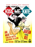 Kiss Me Kate, Howard Keel, Kathryn Grayson, (Danish Poster Art), 1953. Giclee Print
