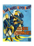 Beau Hunks, (AKA Les Deux Legionnaires), French Poster Art, 1931 Giclée-tryk
