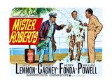 Mister Roberts, L-R: James Cagney, Jack Lemmon, Henry Fonda on UK Poster Art, 1955 Giclee Print