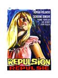 Repulsion, (AKA Repulsie), Belgian Poster Art, Catherine Deneuve, 1965 Giclee Print