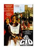 El Cid, Yugoslavian Poster, from Left: Sophia Loren, Charlton Heston, 1961 Giclee Print