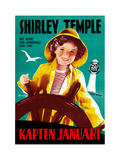 Captain January, (AKA Kapten Januari), Shirley Temple on Swedish Poster Art, 1936 Giclee Print