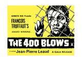 The 400 Blows, (AKA Les Quatre Cents Coups), British Poster, Jean-Pierre Leaud, 1959 Giclee Print