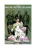 Lola Montes (The Sins of Lola Montes), Martine Carol, (Spanish Poster Art), 1955 Giclee Print