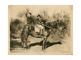 Hard Luck, from Left: Buster Keaton, Virginia Fox, 1921 Giclee Print