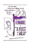 3 Feet in a Bed, (AKA Three Feet in a Bed, Aka Casimir), French Poster, Fernandel, 1950 Giclee Print