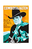 Hollywood Round-Up, (AKA Cowboyhjalten), Buck Jones on Swedish Poster Art, 1937 Giclee Print
