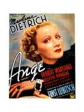 Angel (AKA Ange), Marlene Dietrich, (Belgian Poster Art), 1937 Giclee Print