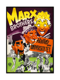 Horse Feathers, the Marx Brothers, Danish Poster for the Film's 1952 Release in Denmark, 1932 Giclee Print