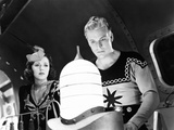 Flash Gordon Conquers the Universe, from Left, Carol Hughes, Buster Crabbe, 1940 Photo