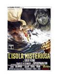 Mysterious Island, (AKA L'Isola Misteriosa), Italian Poster, 1961. Giclee Print