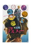 Alfie, Top, in Collage and Bottom Right: Michael Caine on Japanese Poster Art, 1966 Giclée-tryk