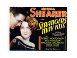 Strangers May Kiss, from Left: Neil Hamilton, Norma Shearer, 1931 Giclee Print