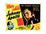 Johnny Apollo, Edward Arnold, Tyrone Power, Dorothy Lamour, 1940 Giclee Print
