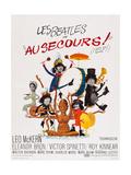 Help!, (AKA Au Secours!), French Poster Art, Top: Ringo Starr, Paul Mccartney; Bottom Giclee Print