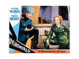Dishonored, from Left: Victor Mclaglen, Marlene Dietrich, 1931 Giclee Print