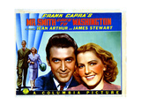 Mr. Smith Goes to Washington, from Left, James Stewart, Jean Arthur, 1939 Giclee Print