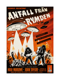 Earth Vs. the Flying Saucers, (AKA Anfall Fran Rymden), Swedist Poster Art, 1956 Giclee Print