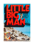 Little Big Man, Dustin Hoffman, Faye Dunaway on German Poster Art, 1970 Giclee Print
