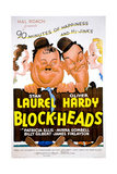 Block-Heads (AKA Blockheads), Laurel and Hardy (Oliver Hardy, Stan Laurel), 1938 Giclee Print