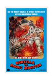Godzilla Vs. Mechagodzilla, (Gojira Tai Mekagojira, Godzilla Vs. Cosmic Monster), 1974 Giclee Print