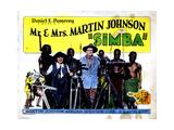 Simba: the King of the Beasts, from Left, Osa Johnson, Martin Johnson, 1928 Giclee Print