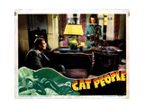 Cat People, from Left, Kent Smith, Simone Simon, 1942 Giclée-tryk
