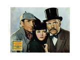 The Adventures of Sherlock Holmes, from Left, Basil Rathbone, Ida Lupino, Nigel Bruce, 1939 Giclee Print
