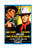 The Man Who Shot Liberty Valance, (AKA L'Uomo Che Uccise Liberty Valance), 1962 Giclee Print