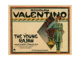 The Young Rajah, Title Card, Rudolph Valentino, 1922 Giclee Print