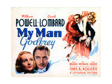 My Man Godfrey, from Left, Carole Lombard, William Powell, 1936 Giclee Print