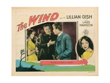 The Wind, from Left: Lillian Gish, Montagu Love, Lars Hanson, Portrait Right: Lillian Gish, 1928 Giclee Print