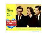The Lost Weekend, from Left, Ray Milland, Jane Wyman, Phillip Terry, 1945 Giclee Print