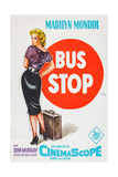 Bus Stop, Marilyn Monroe on German Poster Art, 1956 Giclee Print