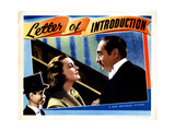 Letter of Introduction, from Left, Charlie Mccarthy, Andrea Leeds, Adolphe Menjou, 1938 Giclee Print