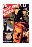 Sherlock Holmes Faces Death, Top to Bottom, Nigel Bruce, Basil Rathbone, Hillary Brooke, 1943 Giclee Print