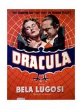 Dracula, Helen Chandler, Bela Lugosi, (Lower Left), 1931 Giclee Print