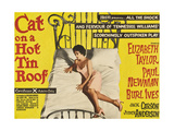 Cat on a Hot Tin Roof, Elizabeth Taylor on UK Poster Art, 1958 Giclee Print