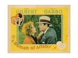 A Woman of Affairs, from Left: Greta Garbo, John Gilbert, 1928 Giclee Print