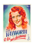 You Were Never Lovelier, (AKA O Toi Ma Charmante!), Rita Hayworth on French Poster Art, 1942 Giclee Print