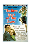 The Best Years of Our Lives, from Left: Dana Andrews, Teresa Wright, Virginia Mayo, 1946 Giclee Print