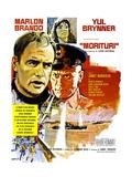 Morituri, Marlon Brando, Janet Margolin, Yul Brynner, (French Poster Art), 1965 Giclee Print