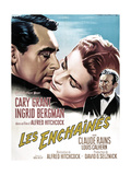 Notorious, French 1963 Re-Release Poster Art, Cary Grant, Ingrid Bergman, Claude Rains, 1946 Giclee Print