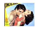 King of the Jungle, from Left, Buster Crabbe, Frances Dee, 1933 Giclee Print