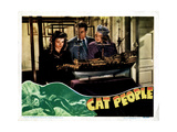 Cat People, from Left, Simone Simon, Kent Smith, Jane Randolph, 1942 Giclée-tryk